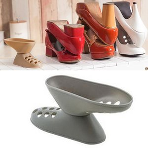 Criativa Plástico High Heel loja Retail Shoes Organizer Titular rack Space-Saving Armazenamento