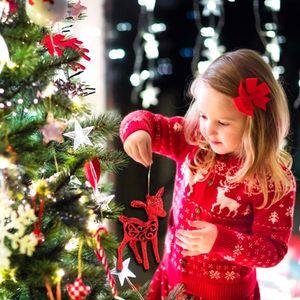 Huiran Noel Geyik Bebek Christams Süsler Çin Tarzı Kolye Ev Cristmas için Merry Christmas Ağacı Dekorasyon 2019 Navidad