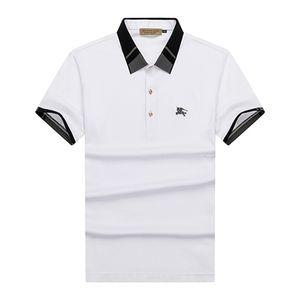 Bahar lüks İtalyan tişört tasarımcısı Polo gömlek cadde işlemeli jartiyer yılan küçük arı baskı elbise erkek markası Polo gömlek 19