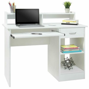 Writing Table Computer Desk Laptop Pc Furniture Wood Workstation Study Office Introductions: Home office, kid's room, or anywhere el