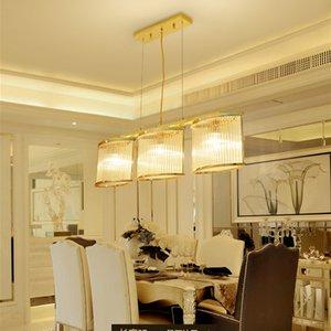 Modern  3 heads gold pendant glass chandelier lighting chandeliers lights led glass pendant lamps for dinning room restaurant