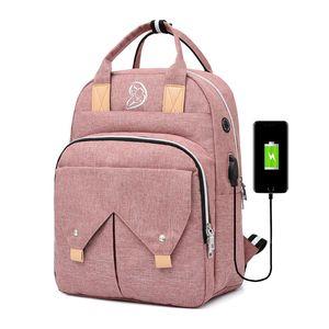 Mummy Bag USB Charging Diaper Bag Travel Bottle Backpack Large Capacity Multi-functional Waterproof Diaper Nappy