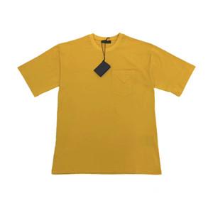 2020 verano nueva moda para hombre del diseñador de lujo amarillo camisetas ~ camisetas ~ tamaño de US tops para hombre nuevo diseño de manga corta t camisas