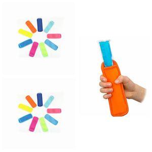 Антифриз мешок неопрена Popsicle мешки Морозильник Popsicle Держатели многоразовые изоляции для детей Летних Мороженое Инструментов T2I51119
