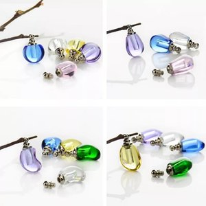 apple shape screw cap vial pendant Miniature Perfume oil wishing bottle jar Crystal Rice Jewelry name on rice art pendant decor
