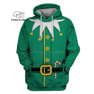 PLstar Cosmos Joyeux Arbre De Noël Rex 3d hoodies / chemise / Sweat-shirt hiver automne drôle Harajuku Halloween cosplay streetwear-6