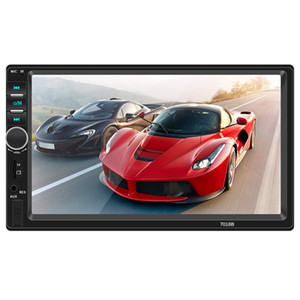 7 inç Car MP5 Çalar 2 din Autoradio USB FM Bluetooth Stereo Ses Desteği Geri Görüş Kamerası 7018B