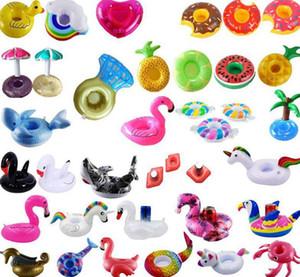Надувные Пейте подстаканники Pool Water Float Party Flamingo Пейте держатель для бассейна воздуха Матрасы для Кубка партии Supplies KKA7888
