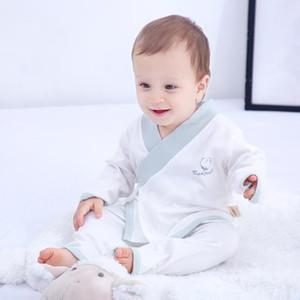 Baby Suit Summer Cotton Thin Children's Long-Sleeved Kimono Children's Hanfu Baby Boy's Leisure Tops Pajamas newborn clothes