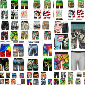 Quick Dry Homens Cueca Underwear Longo Boxer Briefs Skate Street Fashion Hip-hop Sports Shorts Boxer Pants C111909