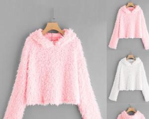 Sweety Harajuku Sudaderas con capucha Mujer Cálido Otoño Streetwear Sudadera con capucha sólida Mujeres Moda Ropa Moletom