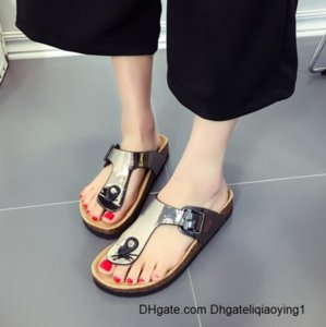 bokon 2020 New Women Slipper Summer Beach Cork Flip Flops Sandals Mixed Color Casual Slides Holiday Shoes Flat White Black Red 8YRE