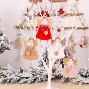 4 Renkler Yaratıcı Peluş Love Angel kolye Altın Kanatlar Kız Noel ağacı Süsleri Kişilik Sevimli Şenlikli Parti Malzemeleri
