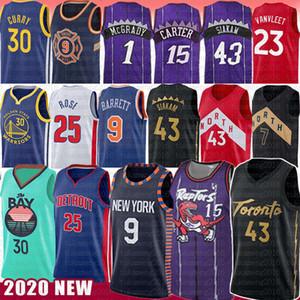 Vince Carter 15 Pascal 43 Siakam Fred 23 camiseta de baloncesto para hombre VanVleet Stephen Curry Kyle Lowry Tyler 14 Herro NCAA Jerseys de los hombres de