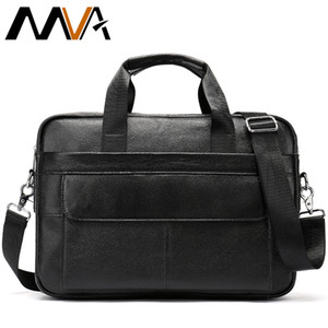 "Messenger Bag Men Leather Men Briefcase Genuine Leather 14 ""Laptop Case Attache Portfolio Business Briefcase Borsa a tracolla"