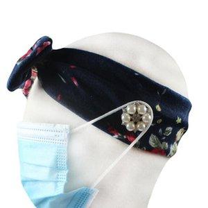 Mask Headband Elastic Anti Strangulation Button Hair Band Various Flower Color Headband Outdoors Sports Sweat Party Gift IIA206