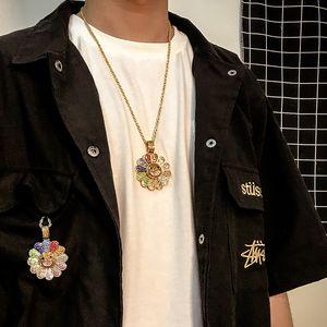 Takashi Murakami, Japan Sonnenblume Halskette Anhänger drehen kann Hip-Hop populär Logo Halskette Männer und Frauen Set Schnecke
