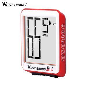 WEST BIKING Fahrrad-Computer-Multifunktions-LED Digital Rate MTB Fahrrad Tachometer Wireless-Radfahren-Entfernungsmesser-Computer Stoppuhr