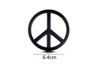 Black 3D Groovy Sign Peace Signe Chrome Emblem Sticker Autocollant Auto Voiture Vélo Vélo Universalité