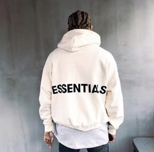 Mens Sweater Pullover Hoodie Essentials Printed Oversized Loose Plus Velvet Hooded Hip Hop Casual Sweatshirts S-XL
