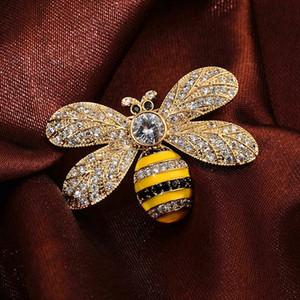 2019 grife Bee Broches pinos para mulheres de alta qualidade strass cristal broche fivela Jóias Luxo Atacado