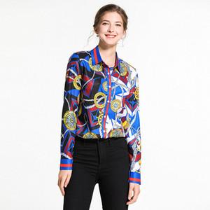 Primavera de 2009 nova blusa, Euro-American moda auto-cultivo impresso camisa