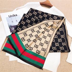 La alta calidad de mezcla de lana Bufanda Y Para Otoño Invierno Mujer Diseño suave de la bufanda de lujo largo Mantón De mayor venta clásico Size180-70 Sin la caja