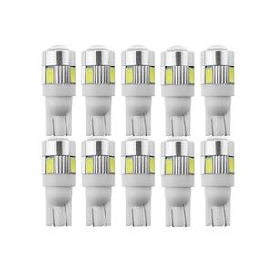 10X T10 W5W السوبر مشرق LED لمبة سيارة رخصة إشارة ضوئية 12V السيارات لوحة الداخلية قبة مصابيح للدراجات النارية / سيارة التصميم الابيض 5W5