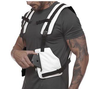 Nouveau Streetwear Veste tactique Hommes Hip Hop Street Style Rig Sac de téléphone poitrine Mode bande réfléchissante CargoWaistcoat avec poches