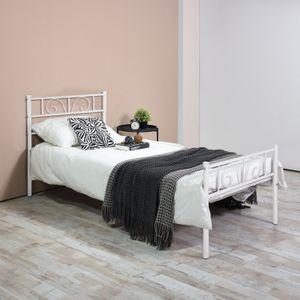 Двойная Полноразмерная Металлическая Каркасная Платформа Изголовья Мебели Спальня с 6 Ножками