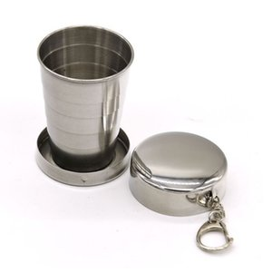 Il nuovo acciaio tazza telescopico in acciaio tazza piegante portatile Wine Glass di acqua portatile telescopica tazza (tromba) T4H0218