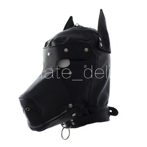 Head Leather Latex Toys Erotic Black Realistic Faux Bondage Hood Dog Sexy Dog Mask Adult Sex Fetish Mask Sex Toys For Couples Hqtjx