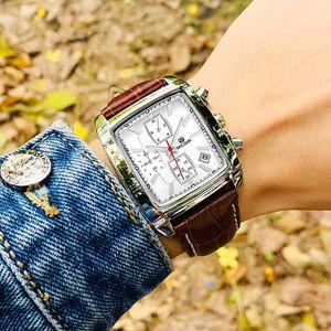 MEGIR Watch Sport Wristwatch Luminous-Calendar Man Chronograph Male Casual Fashion Hot Brand Watches Men Leather Hour Top-