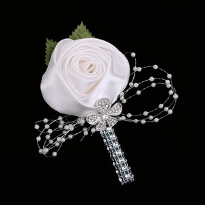 Multi-color Artificial Flower Wedding Corsage Buttonhole Boutonniere Roses Lily