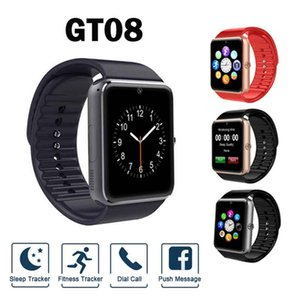 GT08 Bluetooth Smart Watch with SIM Card Slot Message Push NFC Health Watchs for Android and IOS Apple Smartphone Bracelet Smartwatch