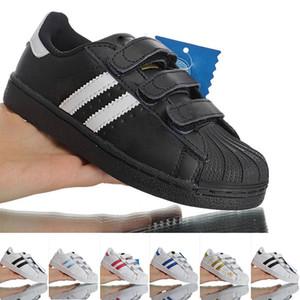 Shell dita dei bambini Superstar scarpe d'oro bianco originale infantile fumetto Superstars scarpe da tennis del bambino stella eccellente scarpe per bambini ragazzi ragazze sportive
