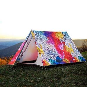 Tende da campeggio per 3-4 persone, tende da spiaggia con stampa 3D di personalità anti-pioggia per quattro stagioni