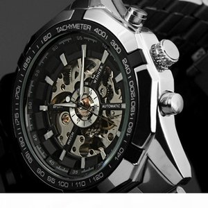 Fashio Top Brand Winner Mens Watches Skeleton Clock Man Classic Sport Watch Gift Automatic Mechanical Relogio Masculino