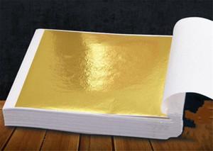9x9cm 100 Sheets Practical K Pure Shiny Gold Leaf for Gilding Funiture Lines Wall Crafts Handicrafts Gilding Decoration