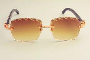 الصغيرة القرن عدسة 8300177 الأسود موضة 2019 الماس نظارات قناع الطبيعية النقش نمط 3.0 نظارات عدسة سمك الشمس Scaat