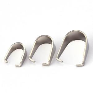 ewelry Acessórios 60pcs Aço inoxidável Pingente Clipe Connector Pinch Bail Fecho DIY Jóias tornando os resultados de prata tom Acessó ...