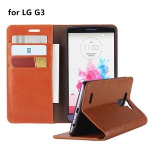 Portefeuille de luxe style téléphone cas en cuir pour LG G3 Flip Cover Business étui de protection pour LG G3