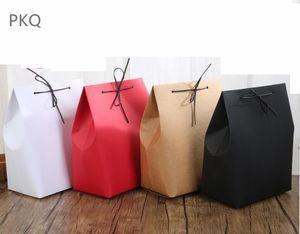 10pcs saco de papel kraft Underwear embalagem Bag Grande Boutique / Present Favor festa de Natal caixa de presente caixa 18x11.5x24.5cm