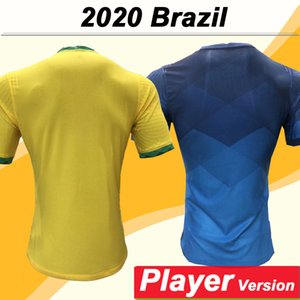 2020 P. Coutinho G. Yesus Player Version Men Soccer Jerseys Brazil National Team Paulinho D. Costa Marcelo Coutinho Home Thousehother