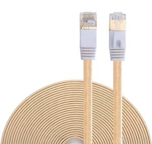 Kedi 7 Ethernet Kablo, Naylon Örgülü 16ft CAT7 Yüksek Hızlı Profesyonel Altın Kaplama Fiş STP Telleri CAT 7 RJ45 Ethernet kablosunu 16ft