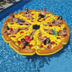 Şişme Yüzen Su Yatak Boad Pizza Şişme Su ummer Su Yüzen Satır wimming Havuz Şamandıra Şamandıra Yüzen Sandalye Hava Yatağı Relax