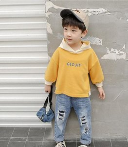 2019 autumn new explosions children's clothing fringed rainbow sun pattern Europe and America long-sleeved sweater T-shirt