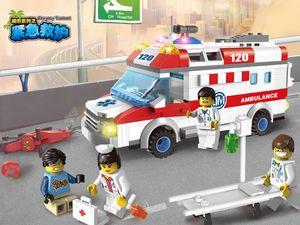 Enlightenment building blocks children toys plastic assembling model boy educational toys city series emergency rescue