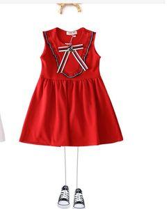 Nueva Summer Girl Bee Falda de punto, falda de chaleco y falda de niño