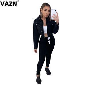 оптовые 2020 Hot List Energy Young Regular Elastic Soft Solid Простые Мода Женщины костюмы Joker талии Braid Длинные брюки карандаш